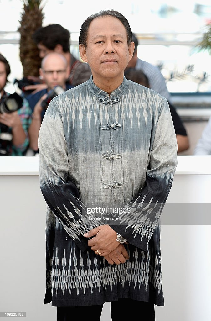 Actor Vithaya Pansringarm attends the photocall for 'Only God Forgives' during The 66th Annual Cannes Film Festival at the Palais des Festivals on...