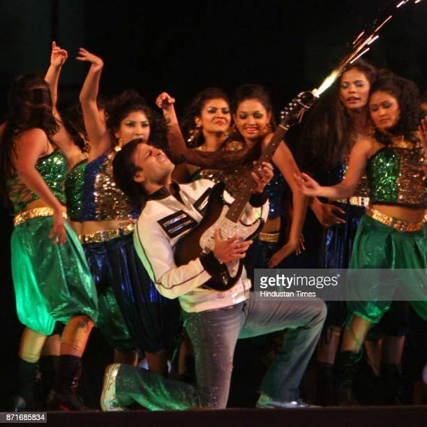 Actor Vivek Oberoi performs during the inaugural function of the 34th National Games at Birsa Munda Athletic stadium in Ranchi