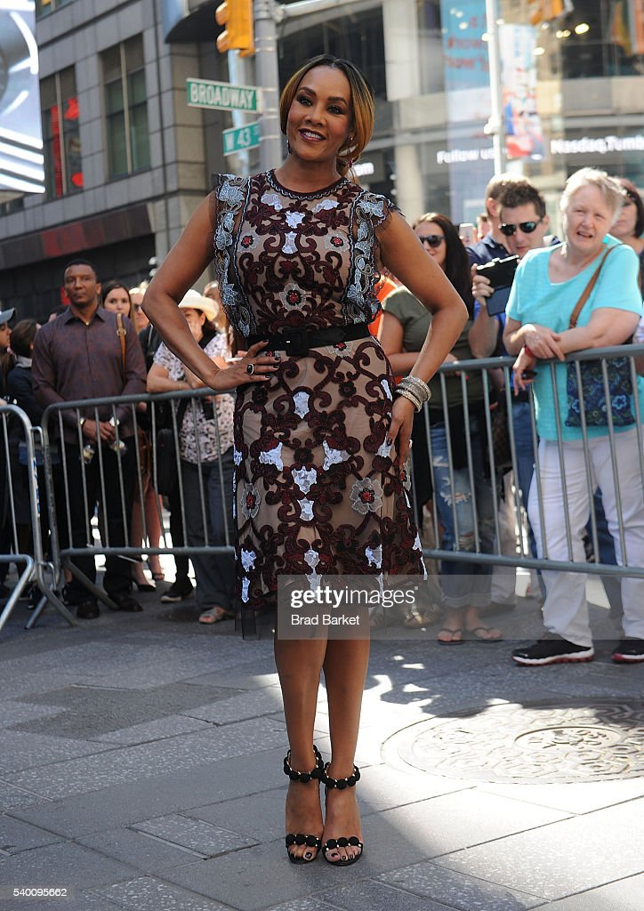 Actor Vivica A Fox attend 'Independence Day Resurgence' Cast Rings The Nasdaq Stock Market Opening Bell at NASDAQ on June 14 2016 in New York City