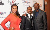 Actor Vivica A Fox director Je'Caryous Johnson and singer Brian McKnight appear at the Vivica A Fox Brian McKnight Performance of 'Cheaper To Keep...