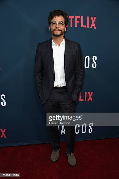 Actor Wagner Moura attends the Premiere of Netflix's 'Narcos' Season 2 at ArcLight Cinemas on August 24 2016 in Hollywood California
