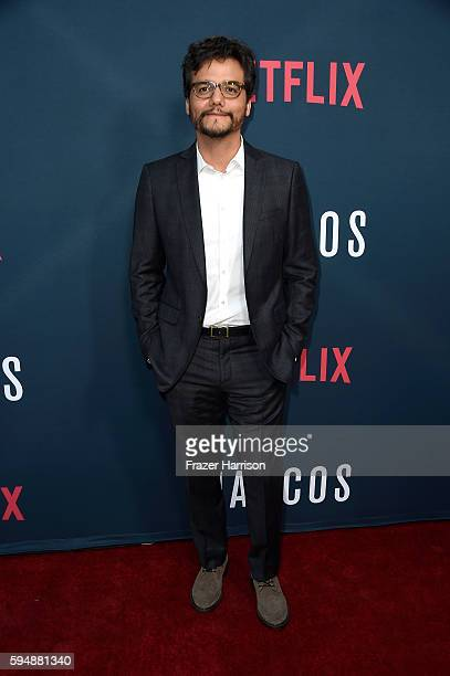 Actor Wagner Moura attends the Season 2 premiere of Netflix's 'Narcos' at ArcLight Cinemas on August 24 2016 in Hollywood California