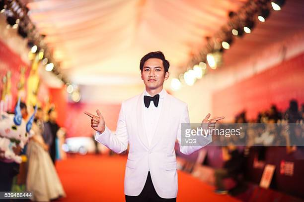 Actor Wallace Chung walks the red carpet of the 19th Shanghai International Film Festival at Shanghai Grand Theatre on June 11 2016 in Shanghai China