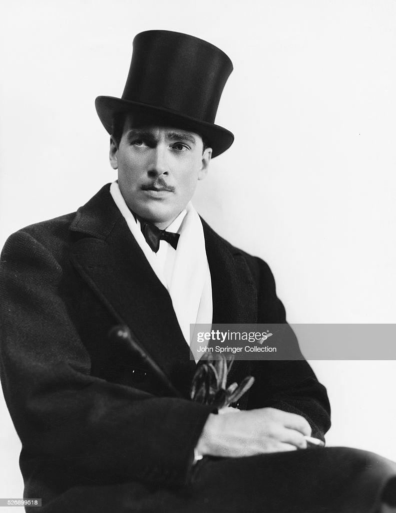 Actor Walter Pidgeon Wearing Top Hat