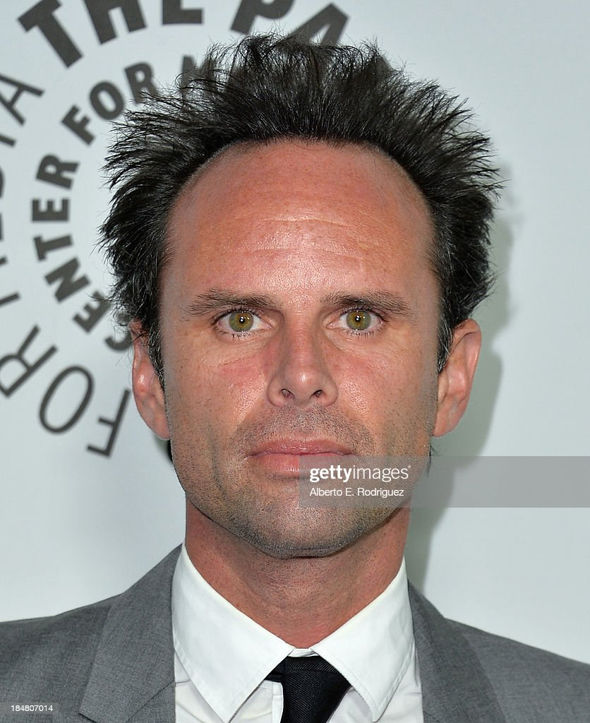Actor <a gi-track='captionPersonalityLinkClicked' href=/galleries/search?phrase=Walton+Goggins&family=editorial&specificpeople=656067 ng-click='$event.stopPropagation()'>Walton Goggins</a> arrives at The Paley Center for Media's 2013 benefit gala honoring FX Networks with the Paley Prize for Innovation & Excellence at Fox Studio Lot on October 16, 2013 in Century City, California.