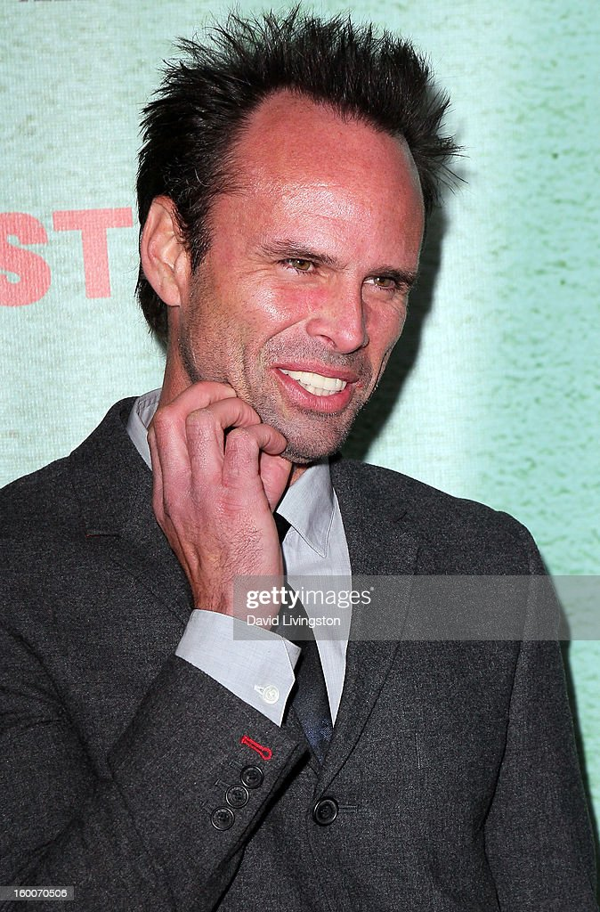 Actor Walton Goggins attends the premiere of FX's 'Justified' Season 4 at the Paramount Theater on the Paramount Studios lot on January 5, 2013 in Hollywood, California.