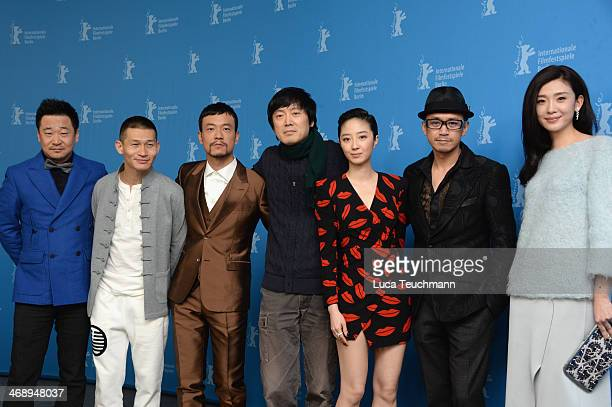 Actor Wang JingChun actor Yu Ailei actor Liao Fan director Diao Yinan actress Gwei Lun Mei and actor Wang Xuebing and actress Ni Jingyang attend the...