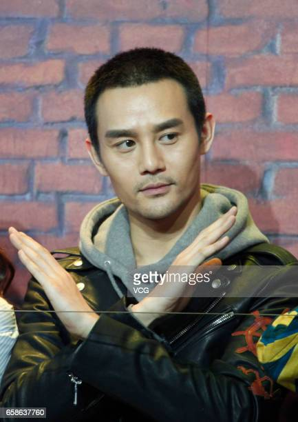 BEIJING CHINA MARCH 27 Actor Wang Kai attends the press conference of his own film 'the Devotion of Suspect X' on March 27 2017 in Beijing China