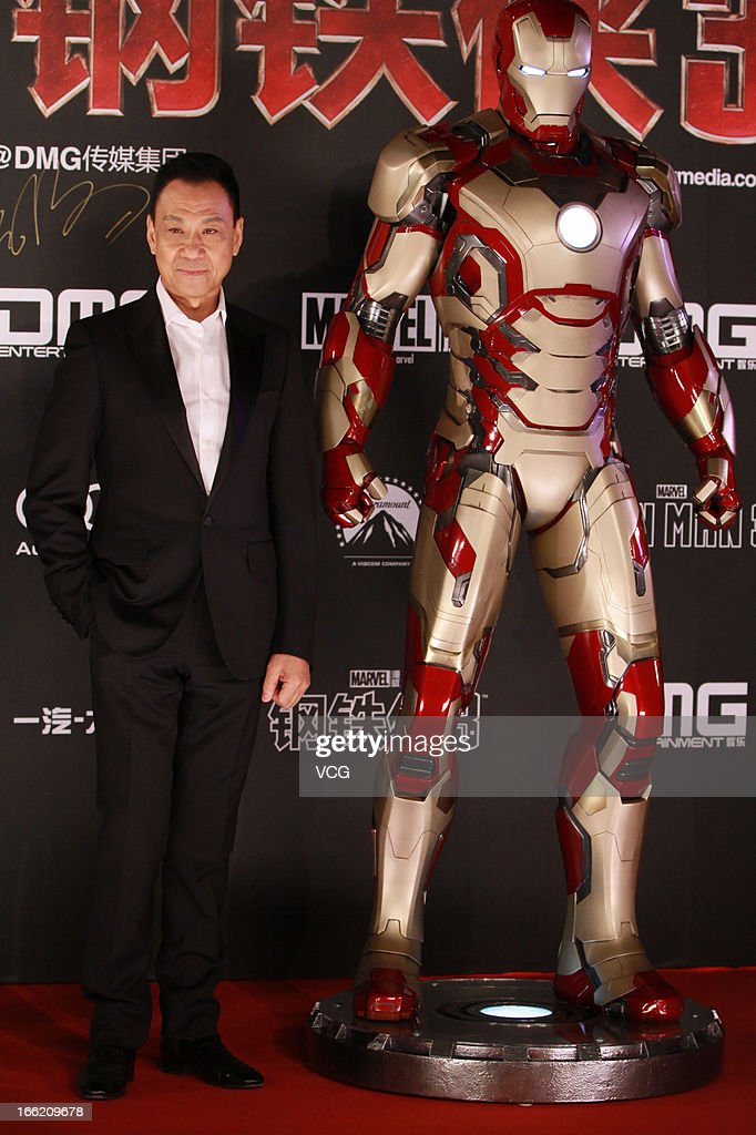 Actor Wang Xueqi attends 'Iron Man 3' Beijing premiere at the Forbidden City on April 6, 2013 in Beijing, China.