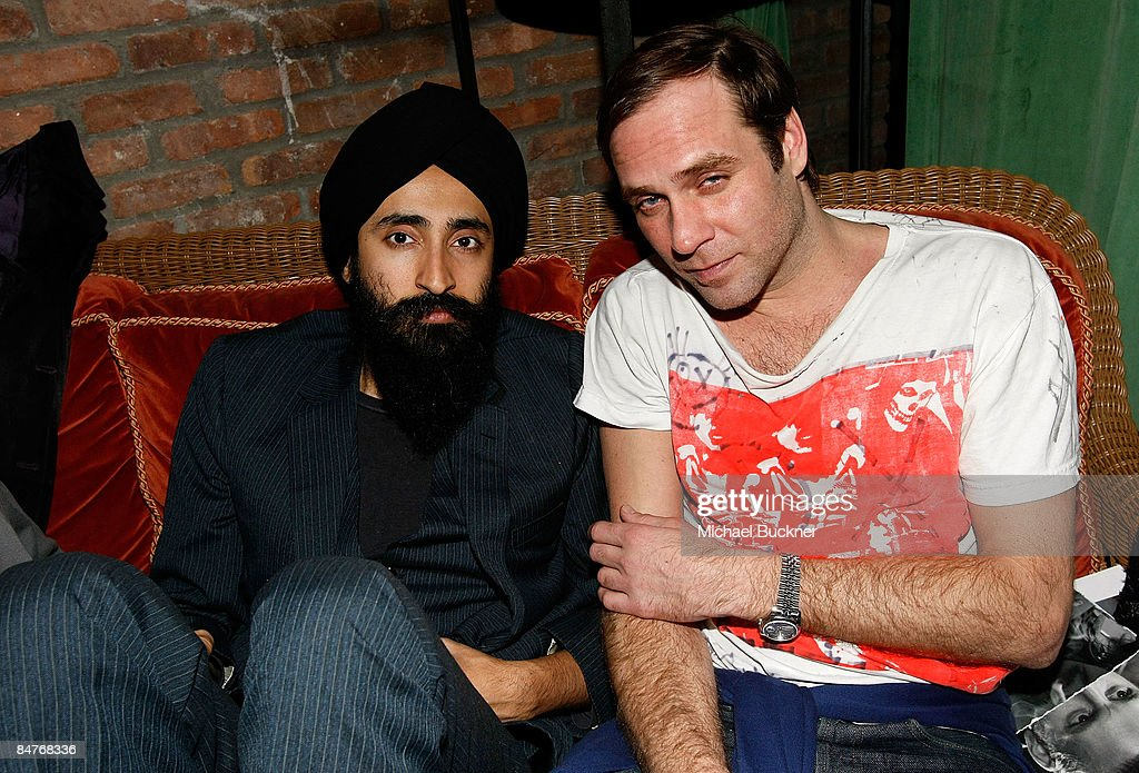 Actor Waris Ahluwalia and DJ Paul Sevigny attend the Belvedere IX Launch Party at The Bowery Hotel on February 12, 2009 in New York City.