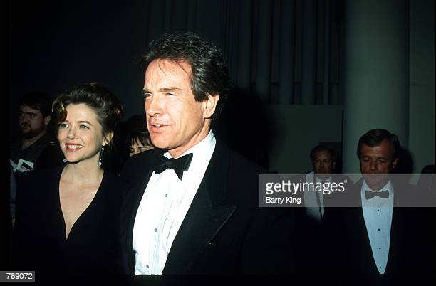 Actor Warren Beatty and actress Annette Bening attend the 44th Annual Directors Guild of America Awards March 14 1992 in Los Angeles CA The awards...