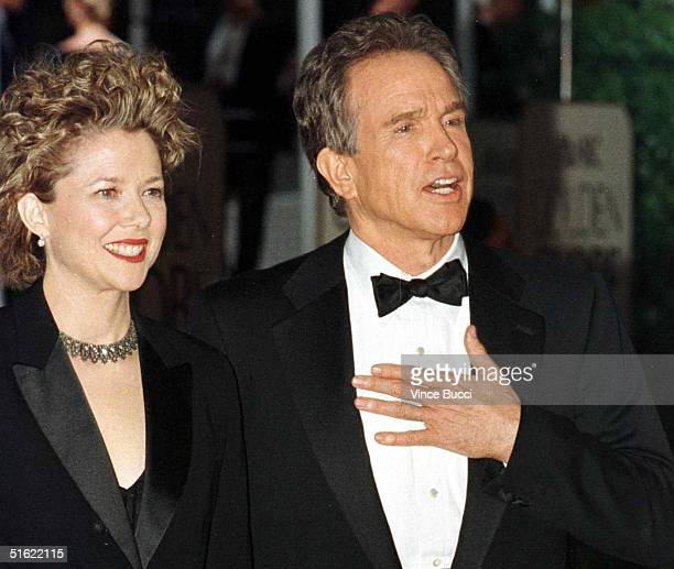 Actor Warren Beatty and his wife actress Annette Benning arrive for the 56th Annual Golden Globe Awards in Beverly Hills 24 January Beatty is...