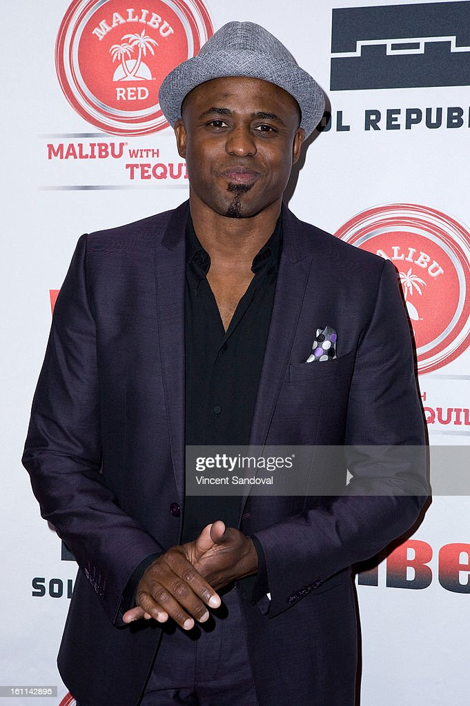 Actor Wayne Brady attends VIBE Magazine's 20th anniversary celebration with inaugural impact awards - Arrivals at Sunset Tower on February 8, 2013 in West Hollywood, California.
