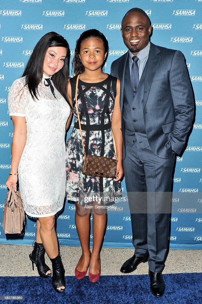Actor <a gi-track='captionPersonalityLinkClicked' href=/galleries/search?phrase=Wayne+Brady+-+Actor&family=editorial&specificpeople=217495 ng-click='$event.stopPropagation()'>Wayne Brady</a>, daughter Maile Masako Brady and actress Mandie Taketa attend the 10th Annual (SAMHSA) Voice Awards at Royce Hall, UCLA on August 12, 2015 in Westwood, California.