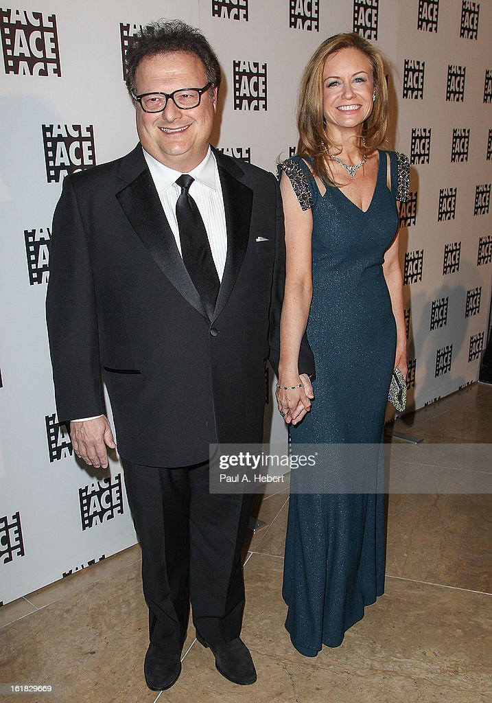 Actor Wayne Knight and wife Clare De Chenu arrives at the 63rd Annual ACE Eddie Awards held at The Beverly Hilton Hotel on February 16, 2013 in Beverly Hills, California.