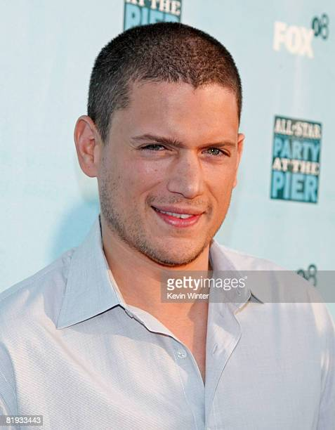 Actor Wentworth Miller arrives at the FOX AllStar Party at the Pier held at Pacific Park on the Santa Monica Pier on July 14 2008 in Santa Monica...
