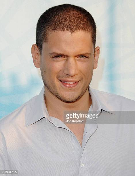 Actor Wentworth Miller arrives at the 'Fox AllStar Party At The Pier' at the Santa Monica Pier on July 14 2008 in Santa Monica California