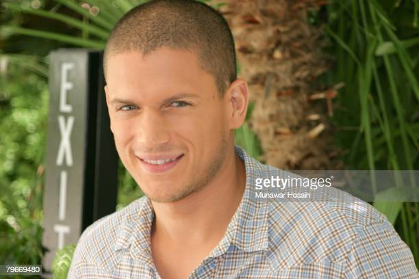 Actor Wentworth Miller at the Four Seasons Hotel in Beverly Hills California on September 14th 2007 Reproduction by American tabloids is absolutely...