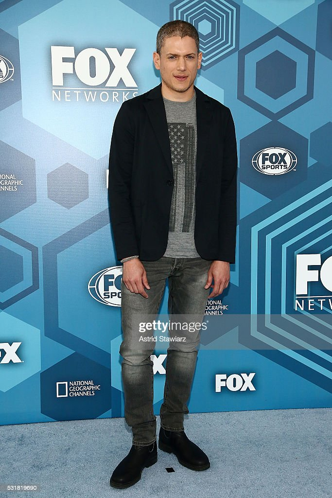 Actor Wentworth Miller attends FOX 2016 Upfront Arrivals at Wollman Rink, Central Park on May 16, 2016 in New York City.