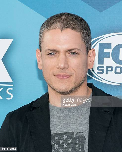 Actor Wentworth Miller attends the 2016 Fox Upfront at Wollman Rink Central Park on May 16 2016 in New York City