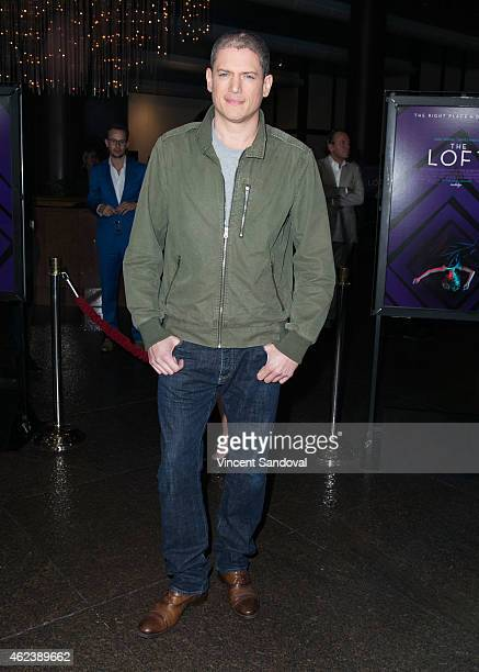 Actor Wentworth Miller attends the Los Angeles special screening of 'The Loft' at Directors Guild Of America on January 27 2015 in Los Angeles...