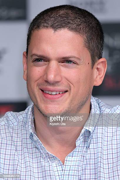 Actor Wentworth Miller attends the press conference for 'Resident Evil Afterlife' at Grand Hyatt Tokyo on September 3 2010 in Tokyo Japan The film...