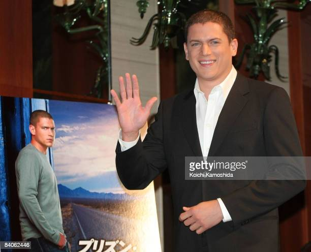 Actor Wentworth Miller attends the 'Prison Break' press conference at Park Hyatt Tokyo on December 17 2008 in Tokyo Japan The new series of the TV...