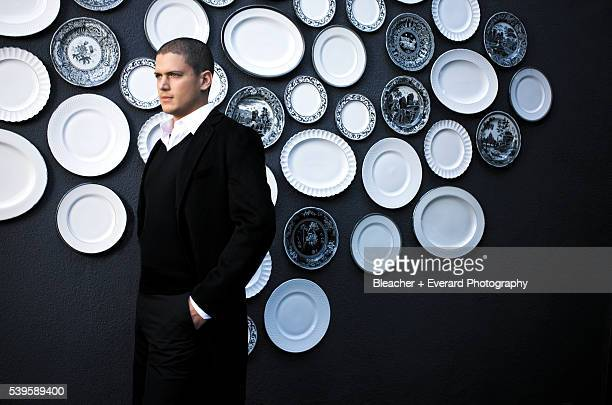Actor Wentworth Miller is photographed for Prestige Magazine on October 16 2008 in Santa Monica California PUBLISHED IMAGE