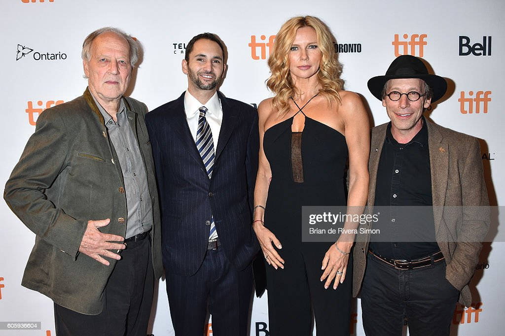 Actor Werner Herzog, Producer Michael Benaroya, Actress Veronica Ferres, and Actor Lawrence Krauss attend the 'Salt and Fire' premiere during the 2016 Toronto International Film Festival at The Elgin on September 15, 2016 in Toronto, Canada.