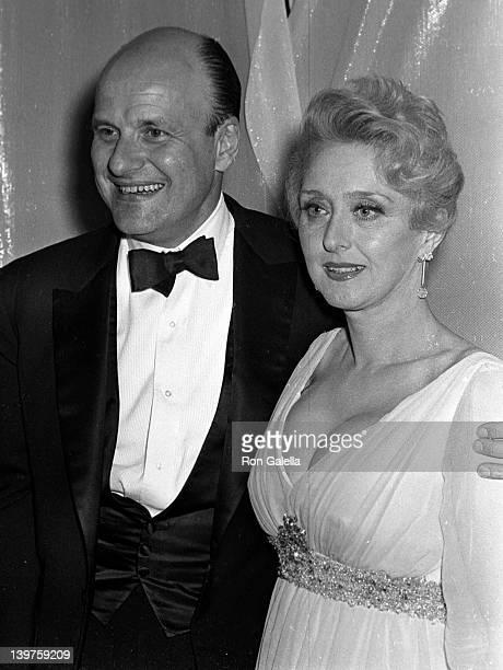 Actor Werner Klemperer and actress Celeste Holm attend 21st Annual Primetime Emmy Awards on June 8 1969 at Carnegie Hall in New York City