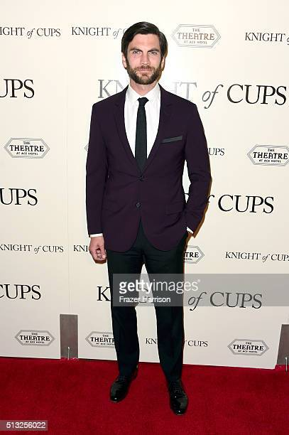 Actor Wes Bentley attends the premiere of Broad Green Pictures' 'Knight Of Cups' on March 1 2016 in Los Angeles California