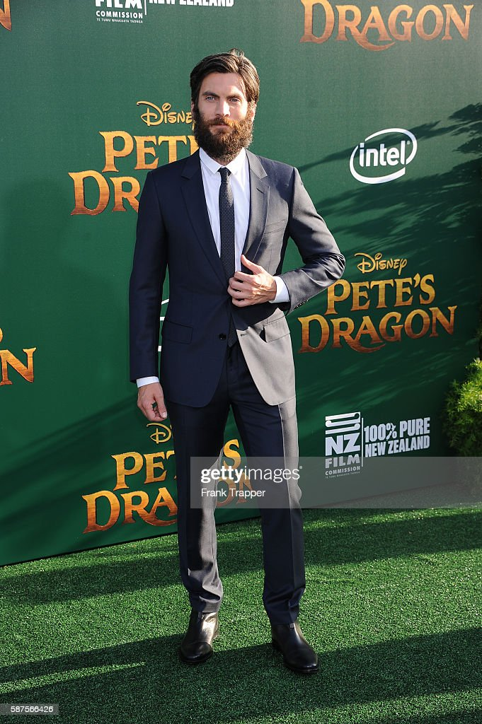 Actor Wes Bentley attends the premiere of Disney's 'Pete's Dragon' held at the El Capitan Theater on August 8 2016 in Hollywood California