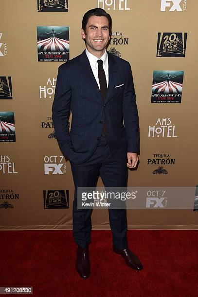Actor Wes Bentley attends the premiere screening of FX's 'American Horror Story Hotel' at Regal Cinemas LA Live on October 3 2015 in Los Angeles...