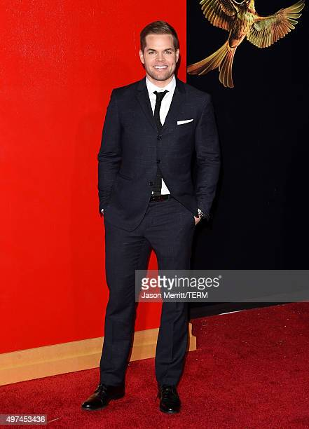 Actor Wes Chatham attends the premiere of Lionsgate's 'The Hunger Games Mockingjay Part 2' at Microsoft Theater on November 16 2015 in Los Angeles...