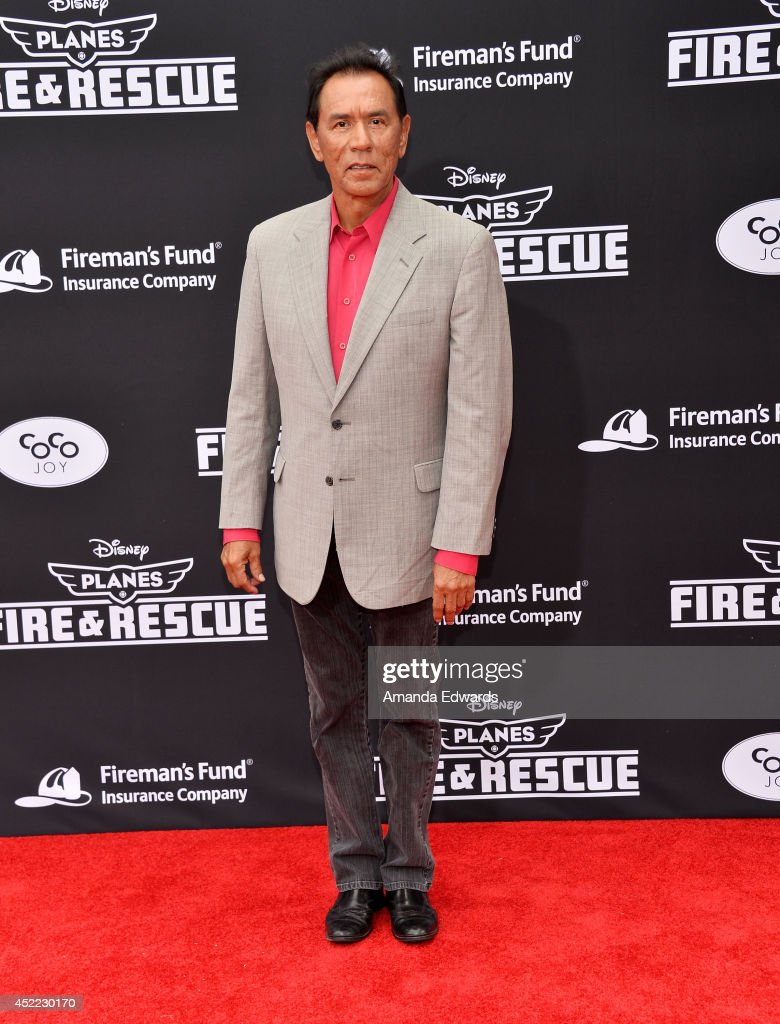 Actor <a gi-track='captionPersonalityLinkClicked' href=/galleries/search?phrase=Wes+Studi+-+Actor&family=editorial&specificpeople=1147913 ng-click='$event.stopPropagation()'>Wes Studi</a> arrives at the Los Angeles premiere of Disney's 'Planes: Fire & Rescue' at the El Capitan Theatre on July 15, 2014 in Hollywood, California.