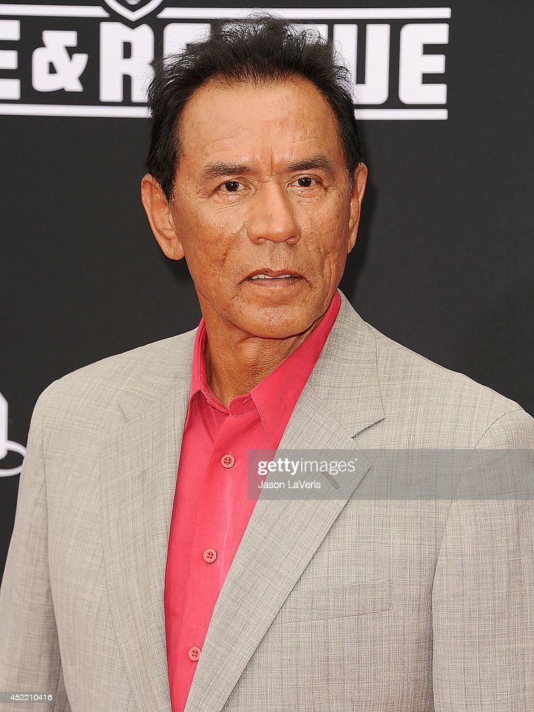 Actor <a gi-track='captionPersonalityLinkClicked' href=/galleries/search?phrase=Wes+Studi+-+Actor&family=editorial&specificpeople=1147913 ng-click='$event.stopPropagation()'>Wes Studi</a> attends the premiere of 'Planes: Fire & Rescue' at the El Capitan Theatre on July 15, 2014 in Hollywood, California.