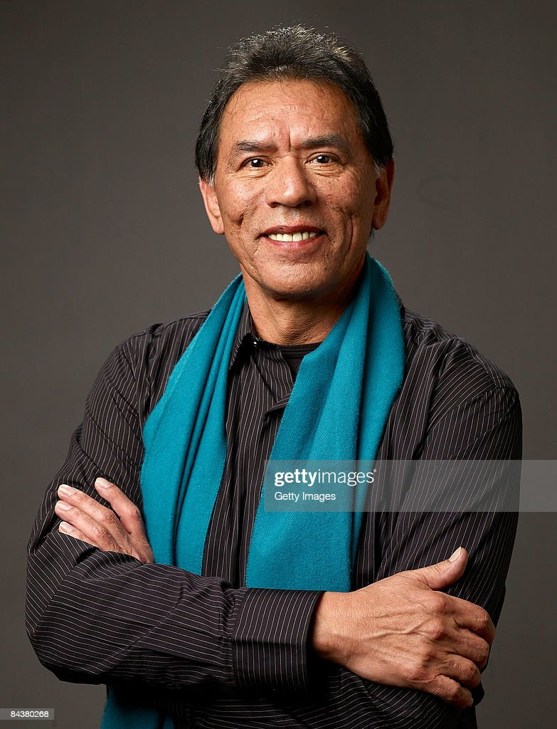 Actor <a gi-track='captionPersonalityLinkClicked' href=/galleries/search?phrase=Wes+Studi+-+Actor&family=editorial&specificpeople=1147913 ng-click='$event.stopPropagation()'>Wes Studi</a> of the film 'The Only Good Indian' poses for a portrait at the Film Lounge Media Center during the 2009 Sundance Film Festival on January 20, 2009 in Park City, Utah.