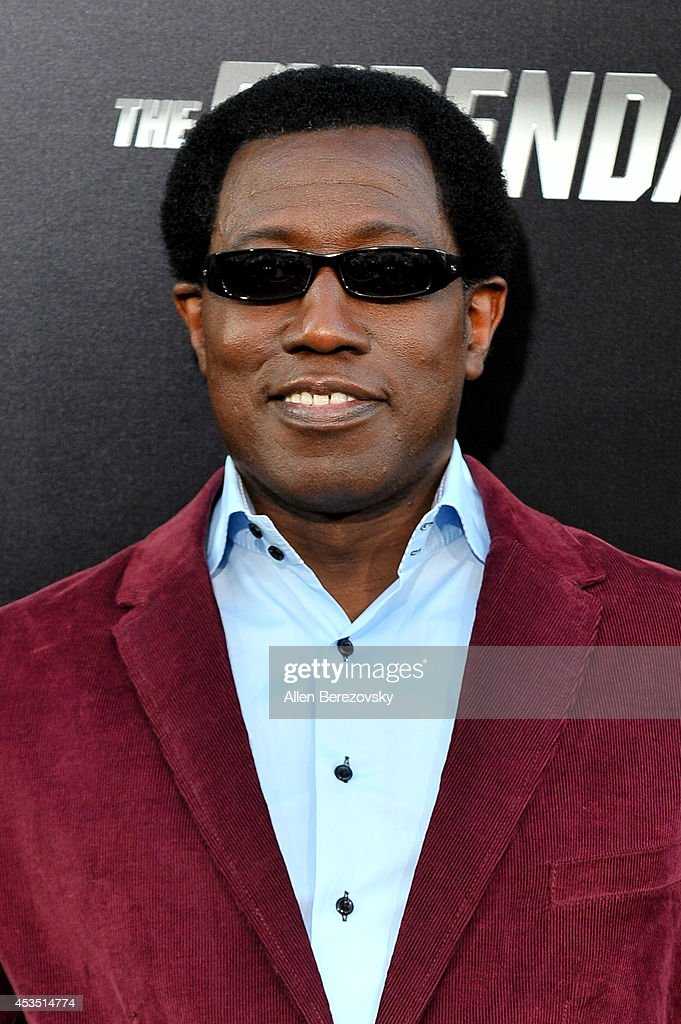 Actor <a gi-track='captionPersonalityLinkClicked' href=/galleries/search?phrase=Wesley+Snipes&family=editorial&specificpeople=211194 ng-click='$event.stopPropagation()'>Wesley Snipes</a> arrives at the Los Angeles premiere of Lionsgate Films' 'The Expendables 3' at TCL Chinese Theatre on August 11, 2014 in Hollywood, California.