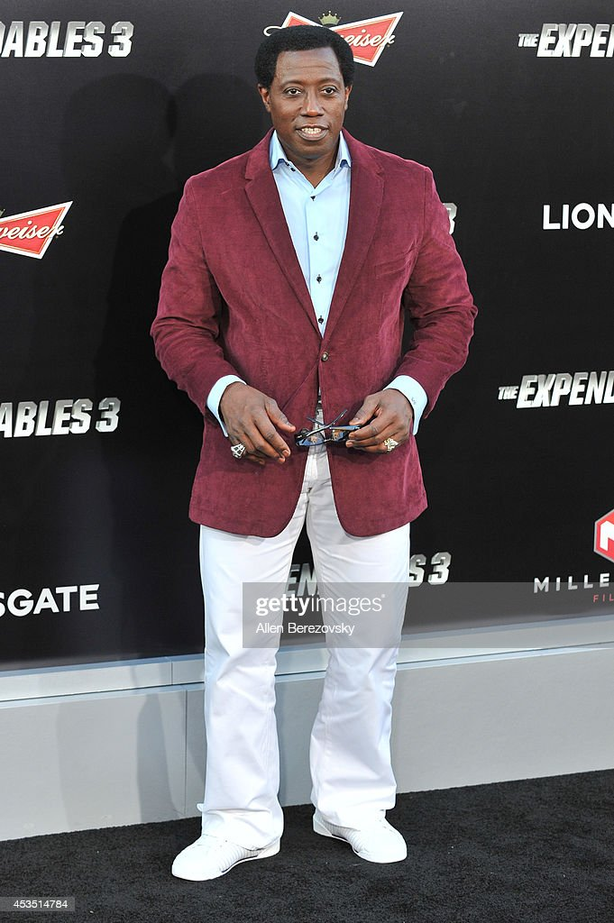 Actor Wesley Snipes arrives at the Los Angeles premiere of Lionsgate Films' 'The Expendables 3' at TCL Chinese Theatre on August 11, 2014 in Hollywood, California.