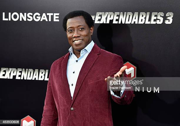 Actor Wesley Snipes attends Lionsgate Films' 'The Expendables 3' premiere at TCL Chinese Theatre on August 11 2014 in Hollywood California