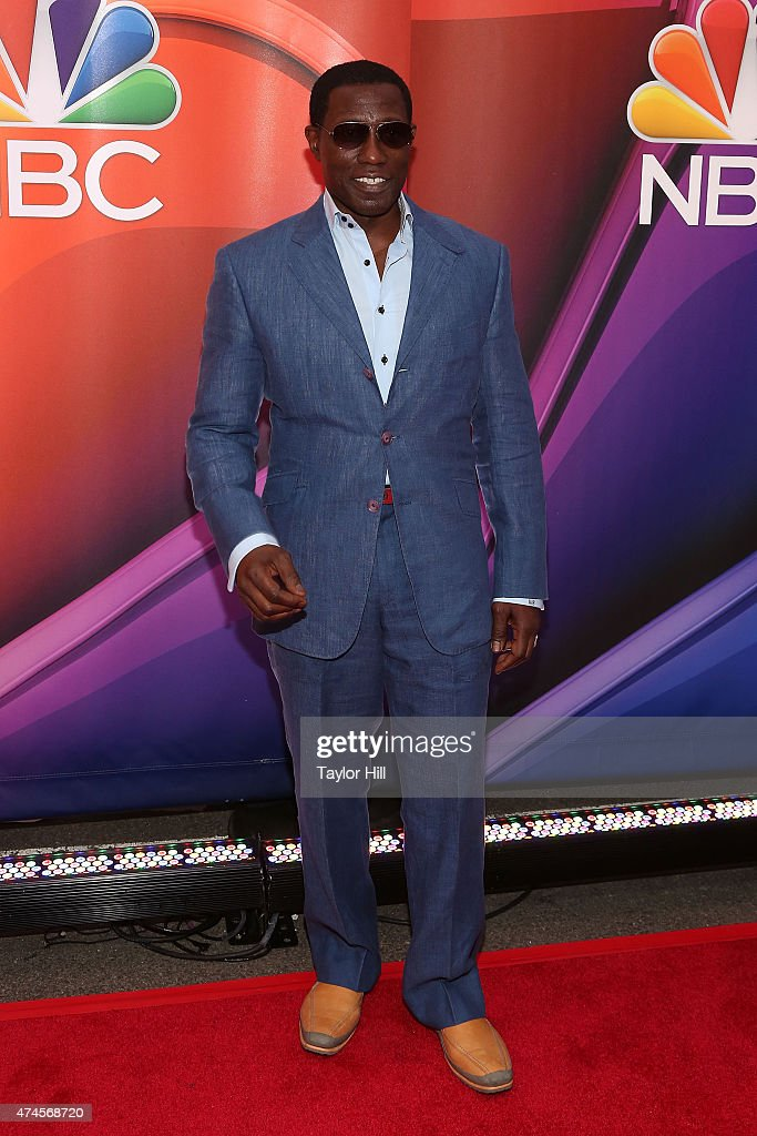 Actor Wesley Snipes attends the 2015 NBC Upfront Presentation Red Carpet Event at Radio City Music Hall on May 11, 2015 in New York City.