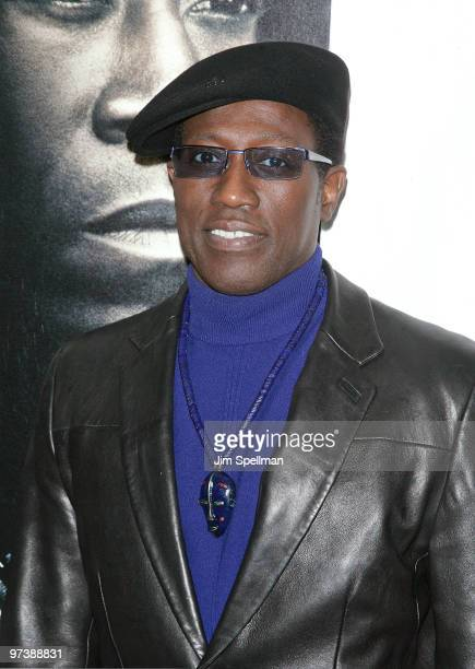 Actor Wesley Snipes attends the premiere of 'Brooklyn's Finest' at AMC Loews Lincoln Square 13 theater on March 2 2010 in New York City