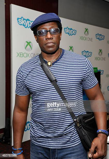 Actor Wesley Snipes drops by the Microsoft VIP Lounge during ComicCon on July 26 2014 in San Diego California