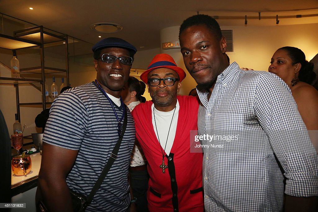 Actor Wesley Snipes, filmmaker Spike Lee, and actor Stephen Tyrone Williams attend Spike Lee's 'Da Sweet Blood Of Jesus' cast and crew special screening at DGA Theater on June 23, 2014 in New York City.