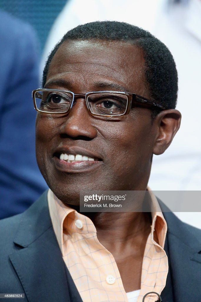 Actor Wesley Snipes speaks onstage during NBC's 'The Player' panel discussion at the NBCUniversal portion of the 2015 Summer TCA Tour at The Beverly Hilton Hotel on August 13, 2015 in Beverly Hills, California.