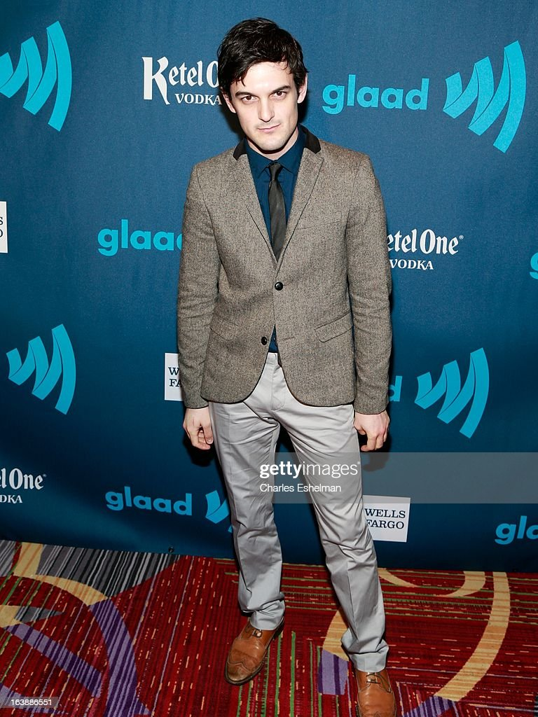 Actor Wesley Taylor attends the 24th annual GLAAD Media awards at The New York Marriott Marquis on March 16, 2013 in New York City.