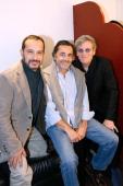 Actor who played Sebastien in the serie 'Belle et Sebastien' from 1965 Mehdi El Glaoui director Nicolas Vanier and actor Tcheky Karyo present the...