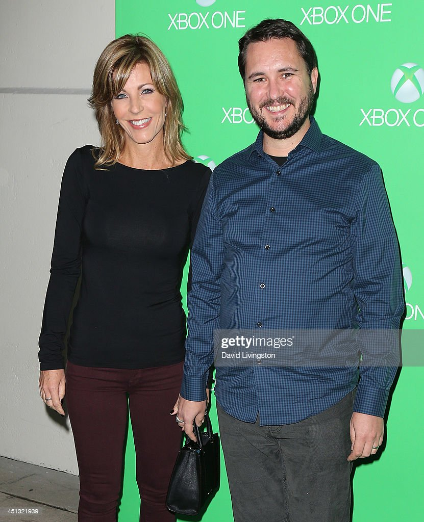 Actor Wil Wheaton and wife Anne Wheaton attend the Xbox One LA Launch Party at Milk Studios on November 21 2013 in Hollywood California