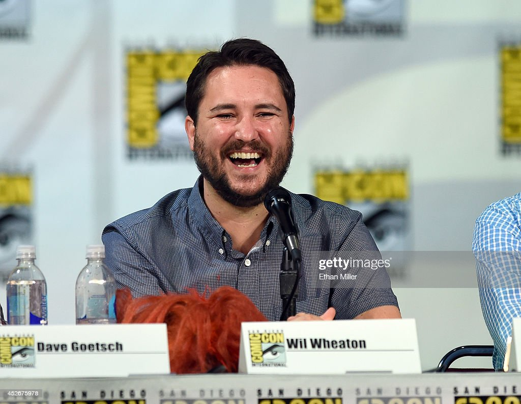 Actor Wil Wheaton attends CBS' 'The Big Bang Theory' panel at the San Diego Convention Center on July 25 2014 in San Diego California