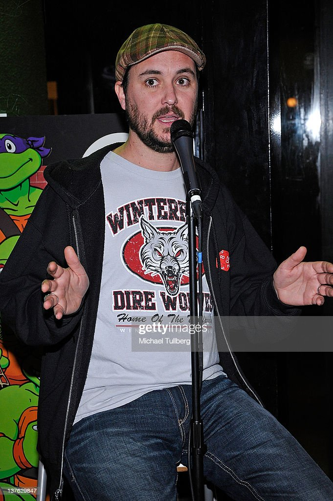 Actor Wil Wheaton speaks at a signing of actor Chris Hardwick's book 'The Nerdist Way' at Meltdown Comics and Collectibles on January 23 2012 in Los...